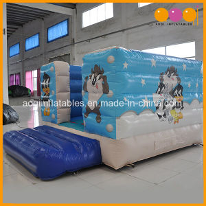 Cartoon Theme Small Inflatable Bouncer Jumping Made of 0.55mm PVC Tarpaulin From China Inflatable Factory (AQ02302) pictures & photos