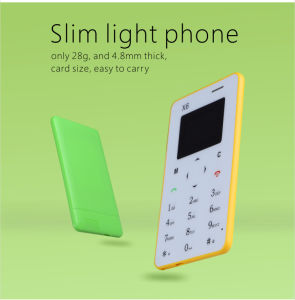 Hot Selling Colorful X6 4.8mm Ultra Thin Mini Card Phone with Arabic Keypad pictures & photos