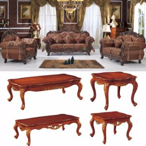 Classic Fabric Sofa with Wooden Sofa Frame (D929D) pictures & photos