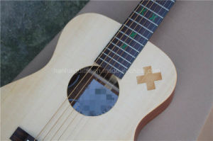 Hanhai Music/34′′ Acoustic Guitar with Green Inlayand Top Solid pictures & photos