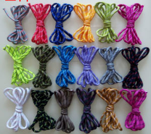 OEM Solid High Quality and Density Colorful Shoelace for Promotion pictures & photos