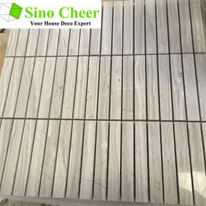 100mmx15mm Stacked Mosaic Tile Stone Marble Mosaic Tile pictures & photos