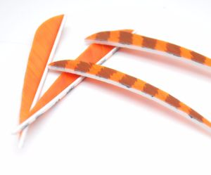 4 Inch Right Wing Stripy Parabolic Feather for Arrow