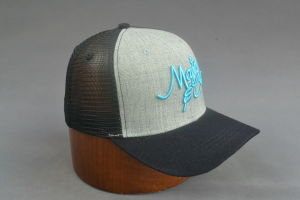 Mix Fabric Curved Brim Snapback Trucker Cap pictures & photos