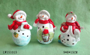 Xmas Snow Man Statue Figurine for Ornament pictures & photos
