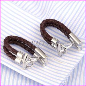 Leather Belt Chain Lock Design Cufflink pictures & photos