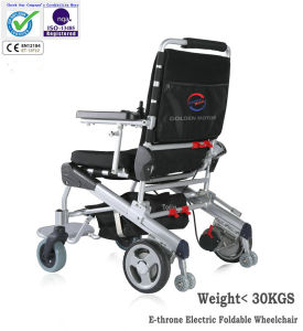 Golden Motor E-Throne Electric Foldable Wheelchair with Ce, Light Weight <30kgs pictures & photos