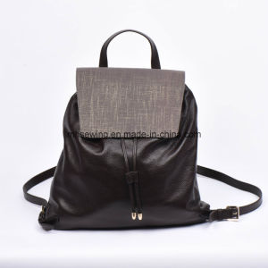 Elegant Genuine Leather Backpack with Drawstring Closure pictures & photos