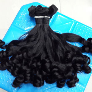 Hair Extensions Double Drawn Cheap Funmi Curls Virgin Mongolian Hair pictures & photos