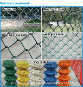 China Factory Galvanized/PVC Coated Chain Link Fence Diamond Wire Mesh pictures & photos