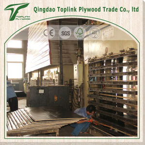 Factory Sale Directly Film Faced Plywood with Red Edges pictures & photos