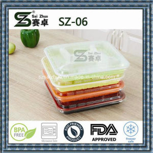 4compartment High Quality Cheap PP Plastic Lunch Box pictures & photos