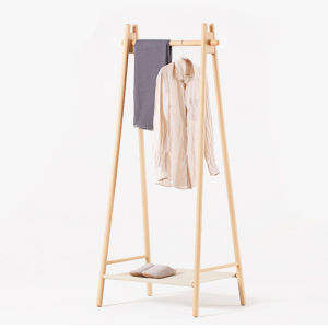 Cloth Beech Standing Hanger Wooden Coat Rack pictures & photos
