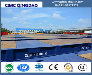 Cimc 20FT 40FT 62FT Mafi Roll Trailer for Port Use Truck Chassis pictures & photos