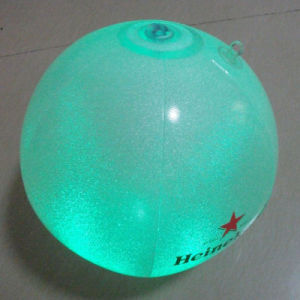 Inflated 30cm Diameter PVC Inflatable Ball with LED at Bottom pictures & photos
