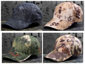 Cool Rattlesnake Combat Solider Baseball Cap Camping Hiking Hats pictures & photos