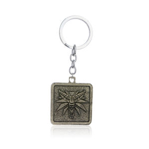 The Witcher 3 Wild Hunt Alloy Wolf Head Pendant Key Chains Rings for Men pictures & photos