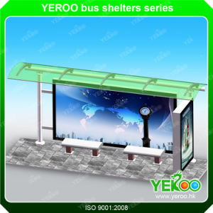 High Quality Used Bus Shelters for Sale Metal Type Bus Stop with Adveritising Billboard pictures & photos