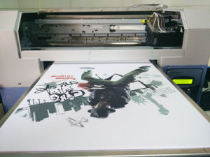 Flatbed Digital T-Shirt Printing Machine with Your Own Design pictures & photos