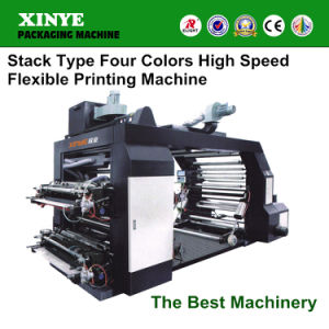 Full Automatic High Speed Four Colour Flexo Printing Press Machine for Paper Bags pictures & photos