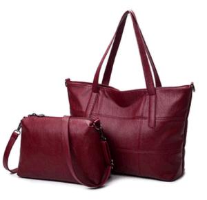 Two-Piece Fashionable Handbags Simple Color PU Ladies Handbag (BDMC161) pictures & photos