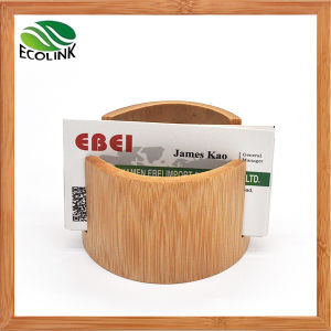 Desktop Natural Bamboo Business Card Holder pictures & photos
