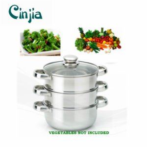 Amazon Vendor 22cm Stainless Steel Steamer Cooker Pot Set pictures & photos