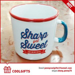 Colorful Triangle Ceramic Coffee Mug for Gift pictures & photos
