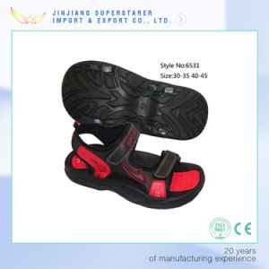 Stylish EVA Sansals Girls Flat Black Sandals pictures & photos