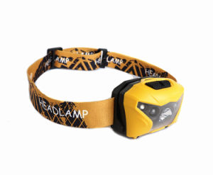 Mini USB Port Rechargeable Portable LED Headlamp Head Light (Yellow) pictures & photos