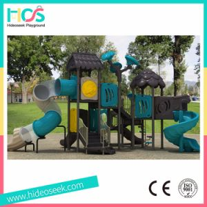 Kids Play Set Outdoor Playground Equipment Plastic Slides (HS09701) pictures & photos
