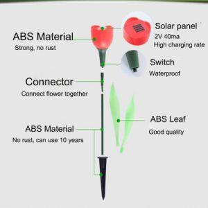 Tulip Flower Solar LED Garden Lamp pictures & photos