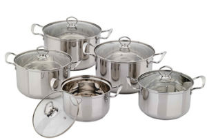 Aluminum Core Wrapped Double Bottom Stainless Steel Cookware Pot pictures & photos