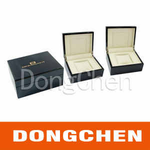Silver Hot Stamping Logo Printing Black Paper Gift Box pictures & photos
