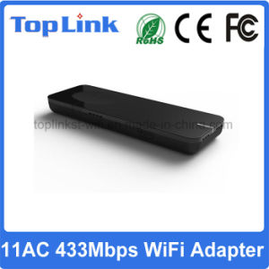 802.11AC/a/B/G/N 433Mbps High Speed 1t1r USB Wireless WiFi Network Dongle for Android TV Box pictures & photos
