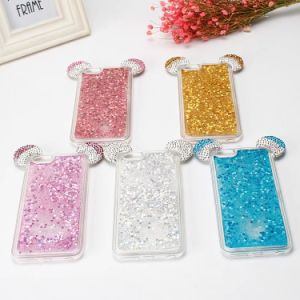 Mouse Liquid Glitter Water Bling Sparkly TPU Soft Case for iPhone 6 7 pictures & photos