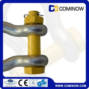 High Tensile Us Type Bolt Shackle with Safety Pin Galvanized (G2130) pictures & photos