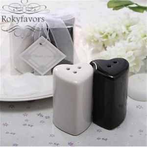 Unique Double Hearts Salt & Pepper Shakers Wedding Reception Favors