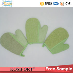 Bamboo Fiber Exfoliating Mitt SPA Softtextile Bath Glove pictures & photos