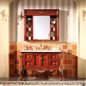 Modern Paint Solid Wood Sanitary Ware Bathroom Cabinet (GSP14-009) pictures & photos