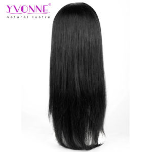 Natural Straight Brazilian Virgin Hair Full Lace Wig 1b Color pictures & photos