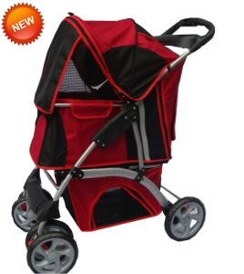 4-Wheels Pet Carrier Stroller Dog Outdoor Travel Bb-PS03 pictures & photos