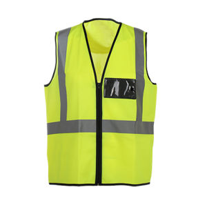 Hi Vis Safety Vest with Pockets