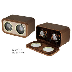 Handcraft 2PCS Operated Gift Packaging Box Automatic Watch Winder pictures & photos