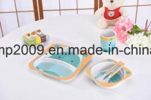 Customized Design BPA Free Bamboo Fiber Dinner Set for Kids, Cute Carton Design, Dinner Plate pictures & photos