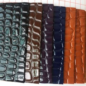 Crocodile PVC Leather for Shoipping Bags pictures & photos