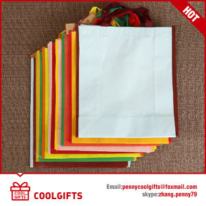 Wholesale Promotional Blank Non Woven Shopping Bag with Laminated Print pictures & photos