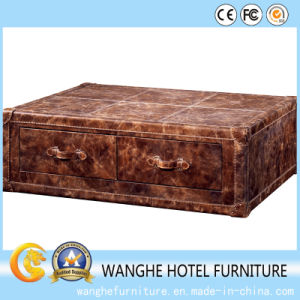 Customized Fashion Furniture Living Room Leather Coffee Table pictures & photos
