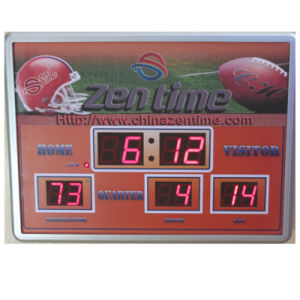 Electric Blue LED Digital Clock with Showing Temperature and Calendar pictures & photos