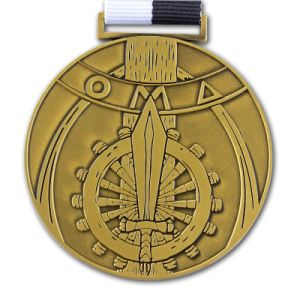 Custom Metal Gold Sports Medal with Ribbon (xd-0832) pictures & photos